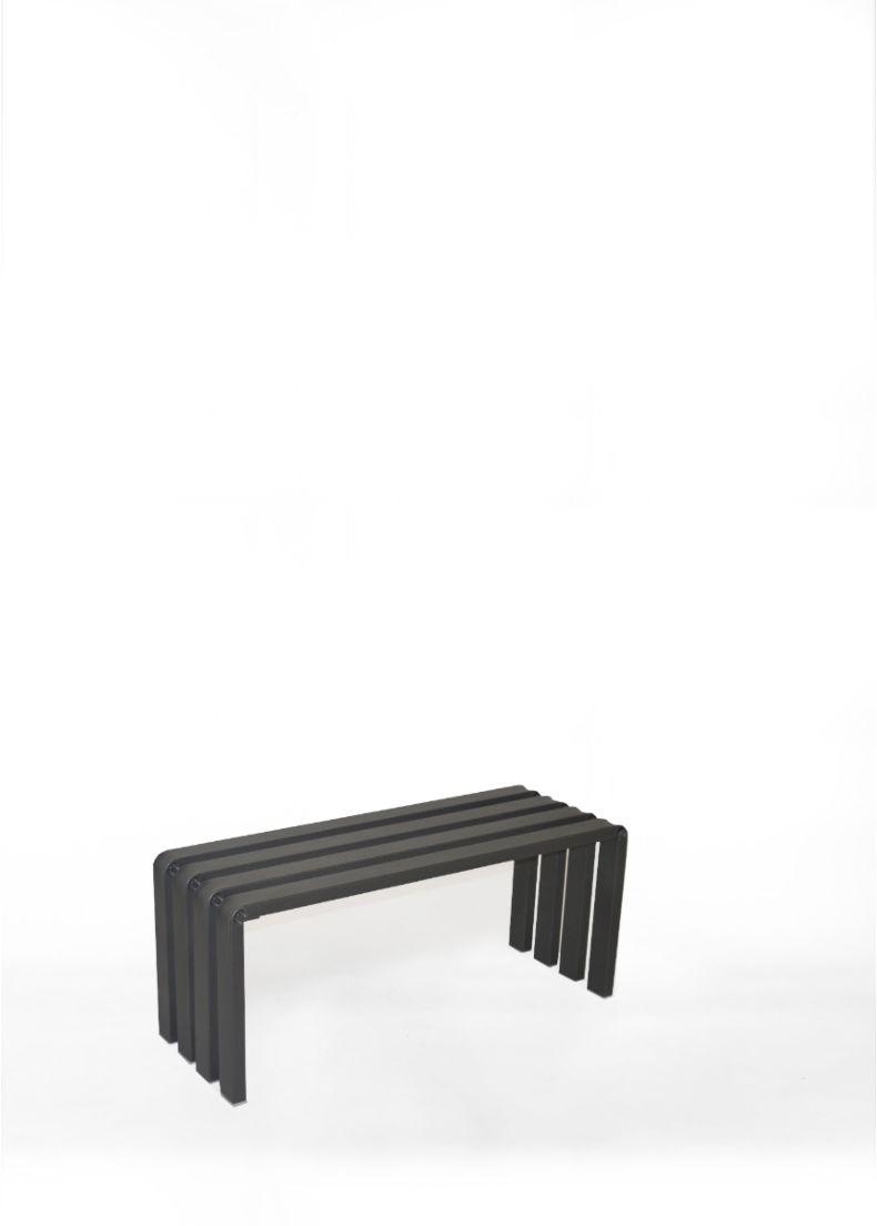 runway design bench in metal steel situér milano