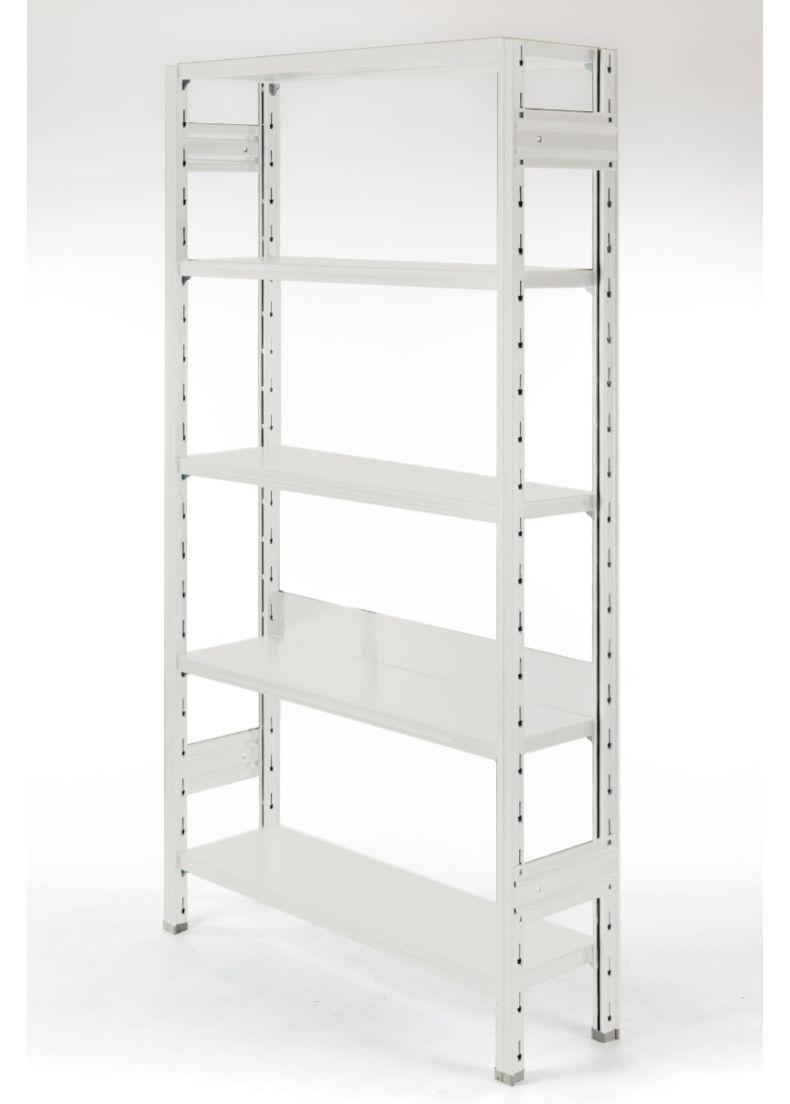 scaffale libreria di design bianco per negozi, showroom, hall, hotel e salotto
