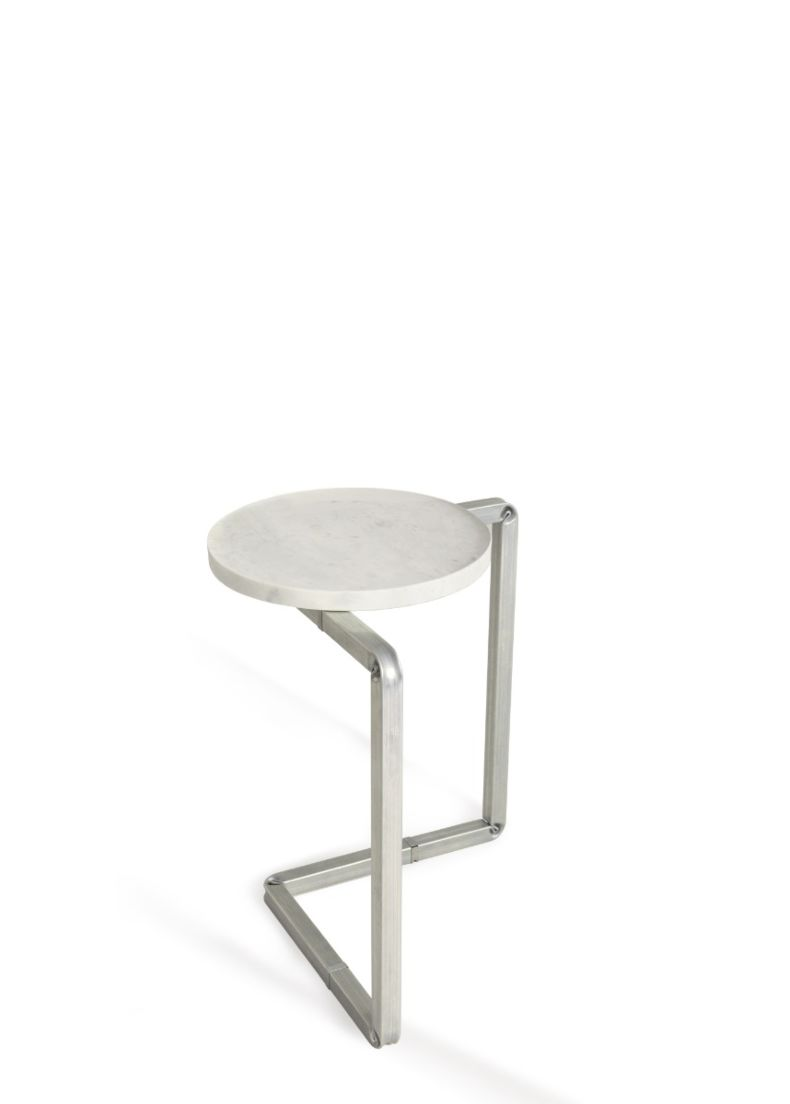 design coffee table with top in carrara marble for stores and showroom