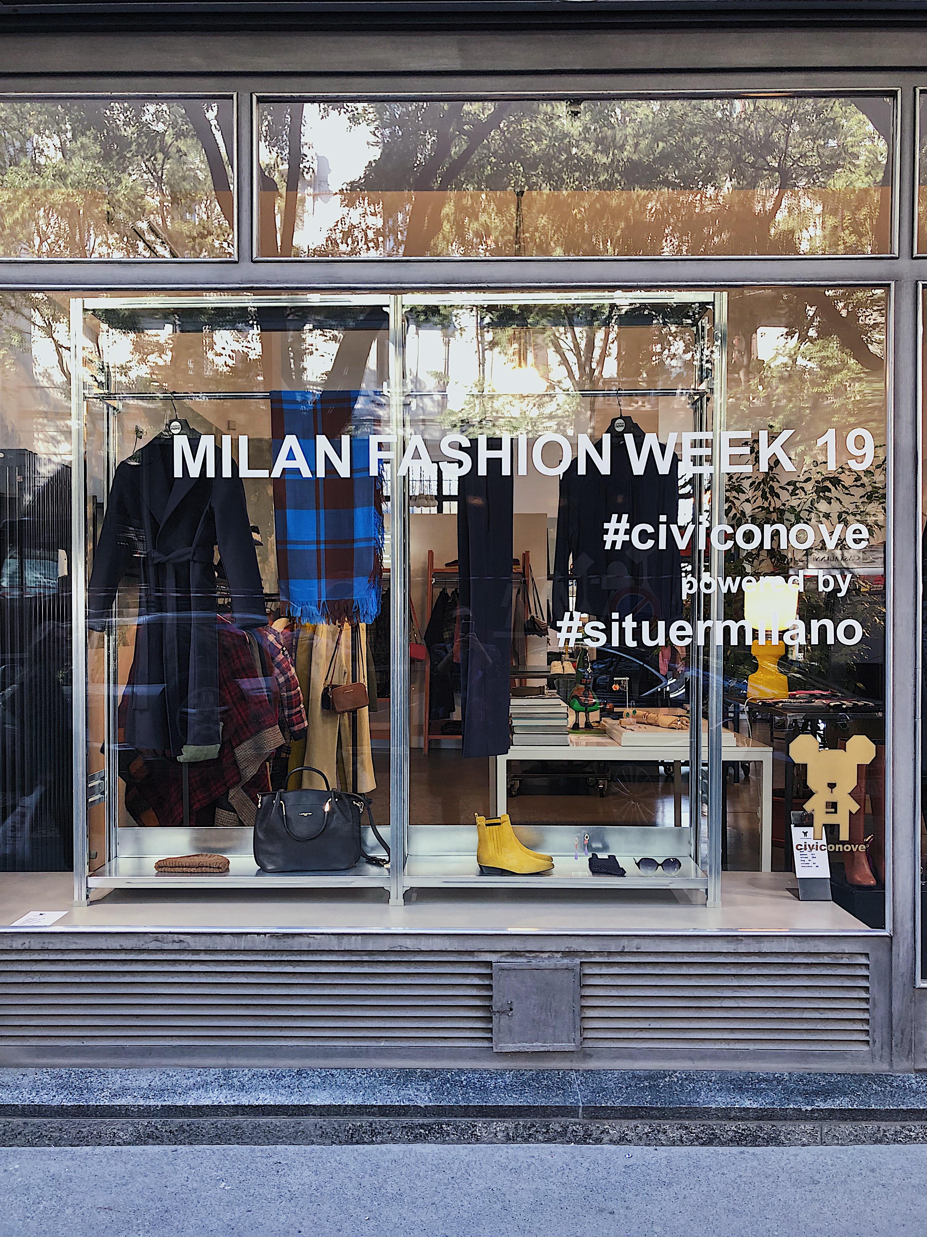 window display milano fashion week situer milano