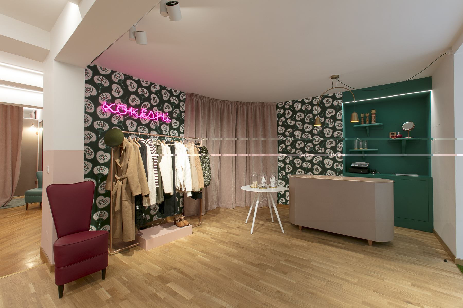 allestimento di design per concept store e negozi