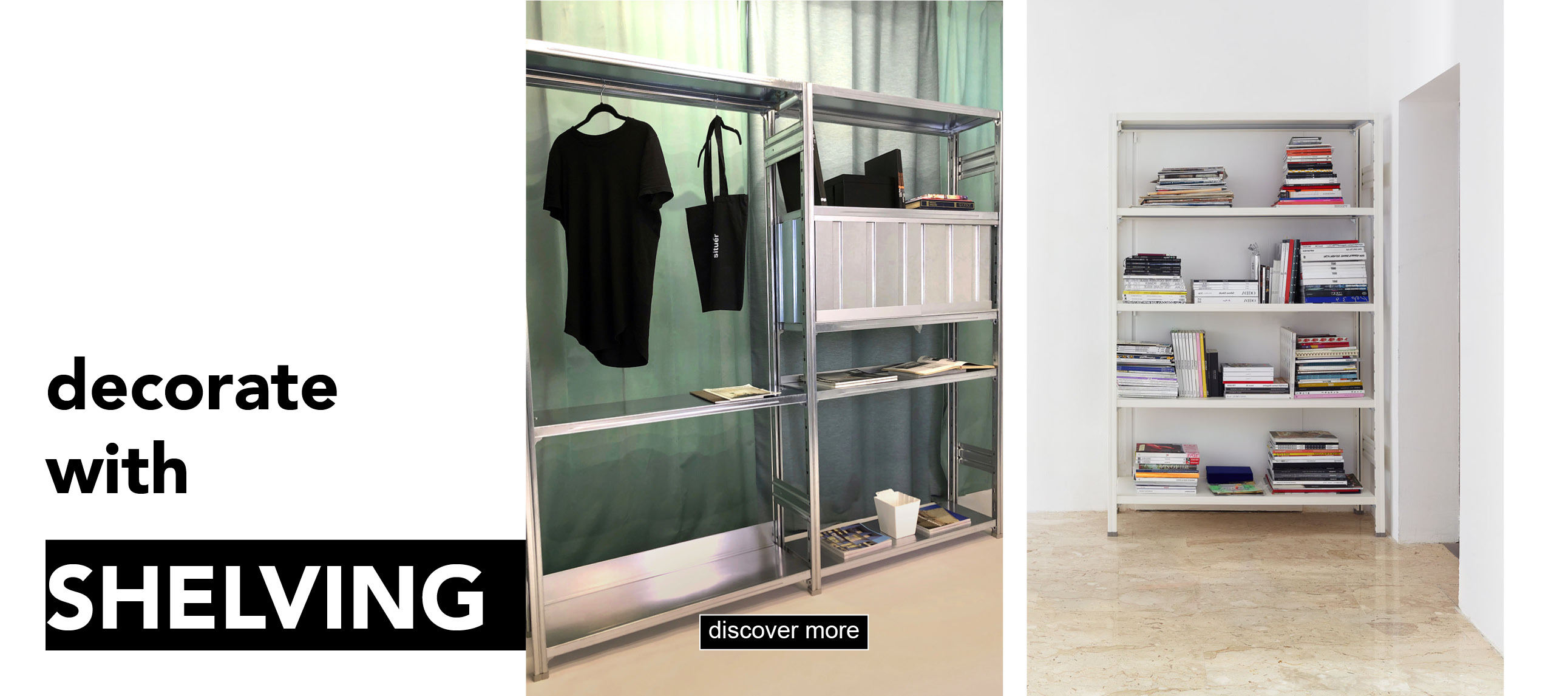 decorate with situer milano design shelving