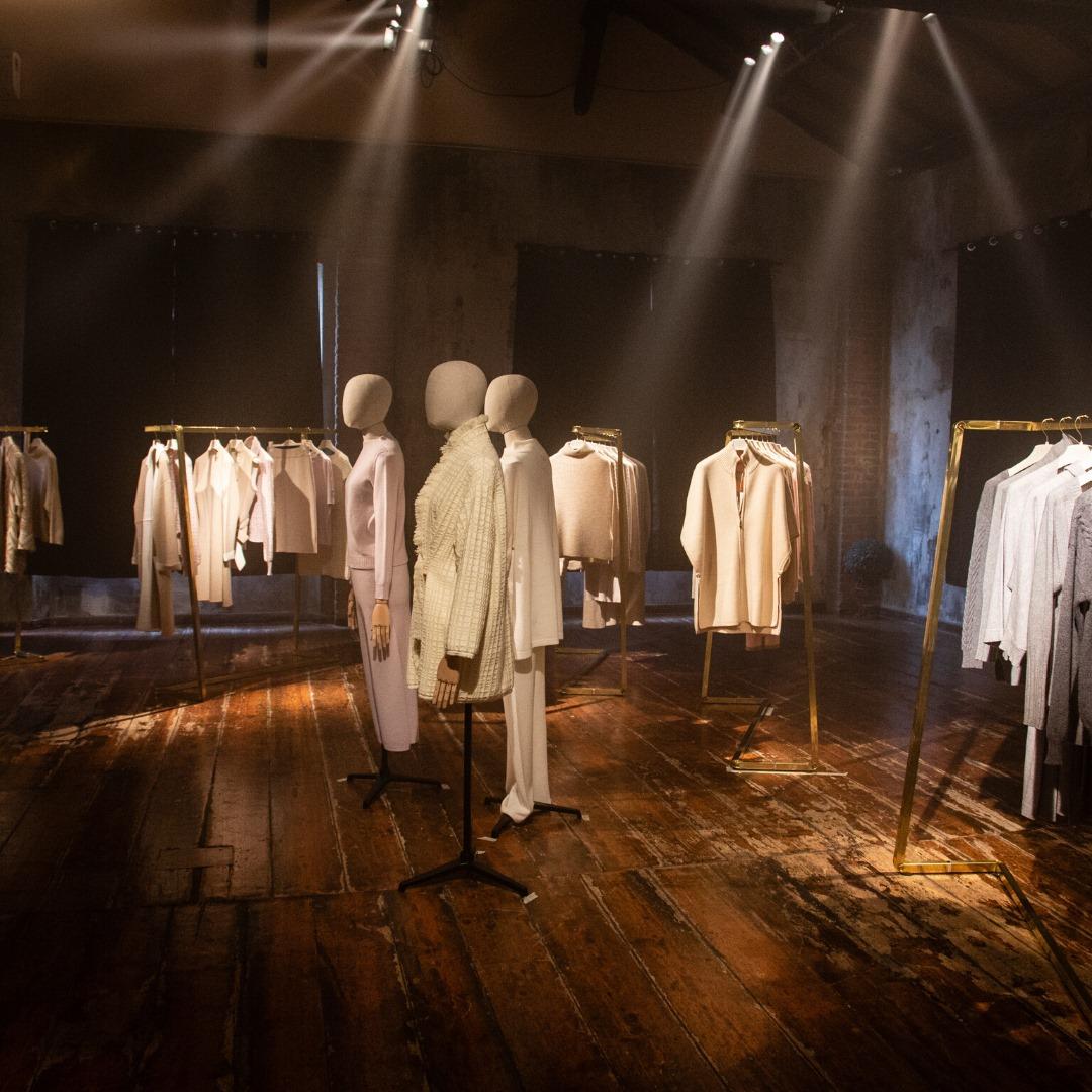 set design presentazione collezione moda