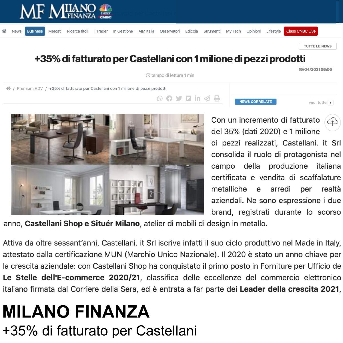 situèr milano e castellani milano finanza